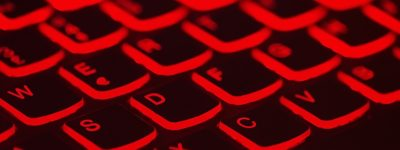 Keyboard backlit in red